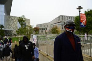 president wilson wearing a mask