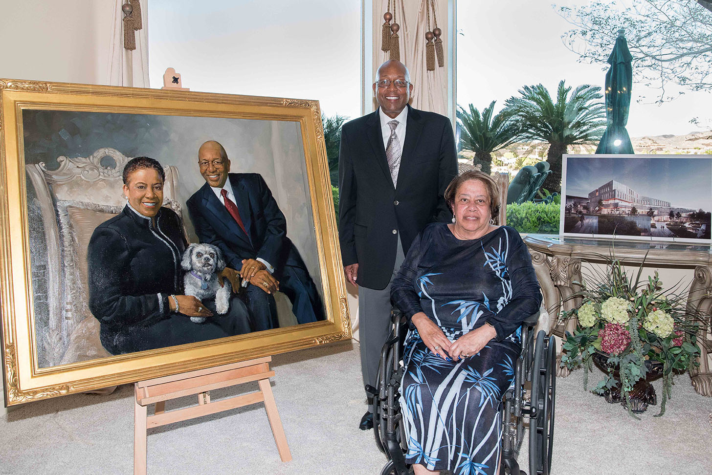 a54bff3c82ca Philanthropists Calvin and Tina Tyler Donate Commissioned Artwork to ...