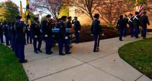 Morgan ROTC students carry Rep. Cummings' casket