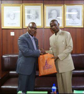 Suleiman E. Bogoro & President David Wilson