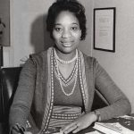 """Nampeo at the Census Bureau, circa 1974. In the late 1970s, she was the principal researcher for """"The Social and Economic Status of the Black Population in the United States,"""" the bureau's first comprehensive report on the black population since the 1930s."""