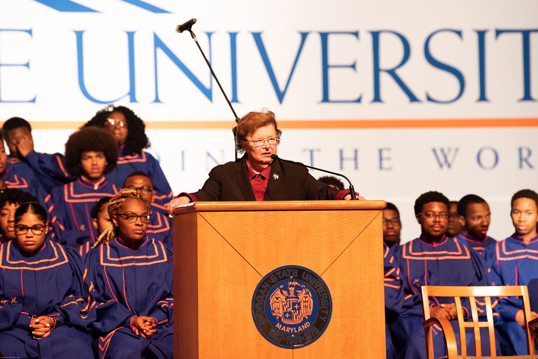 former Senator Barbara Mikulski