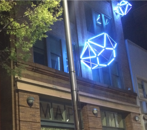 diamonds lighting up downtown