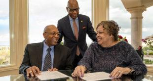 Calvin & Tina Tyler with President Wilson