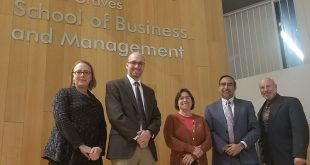 Dr. Sanjay Bapna with PMI's Global Accreditation Center for Project Management Education Programs team