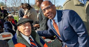 President David Wilson with Earl G. Graves, Sr.