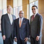 Dean Geoffrey Garrett, David Wilson, Provost Wendell Pritchett