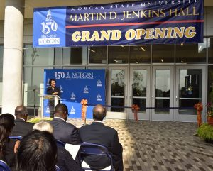 photo of grand opening ceremony for the new Jenkins Hall