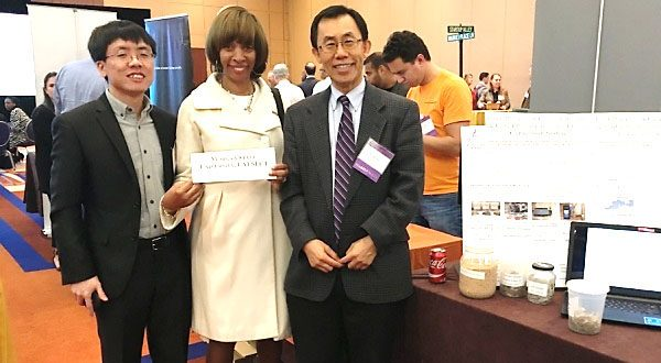 Picture with Dr. Lee, Mr. Qian and Baltimore Mayor Pugh
