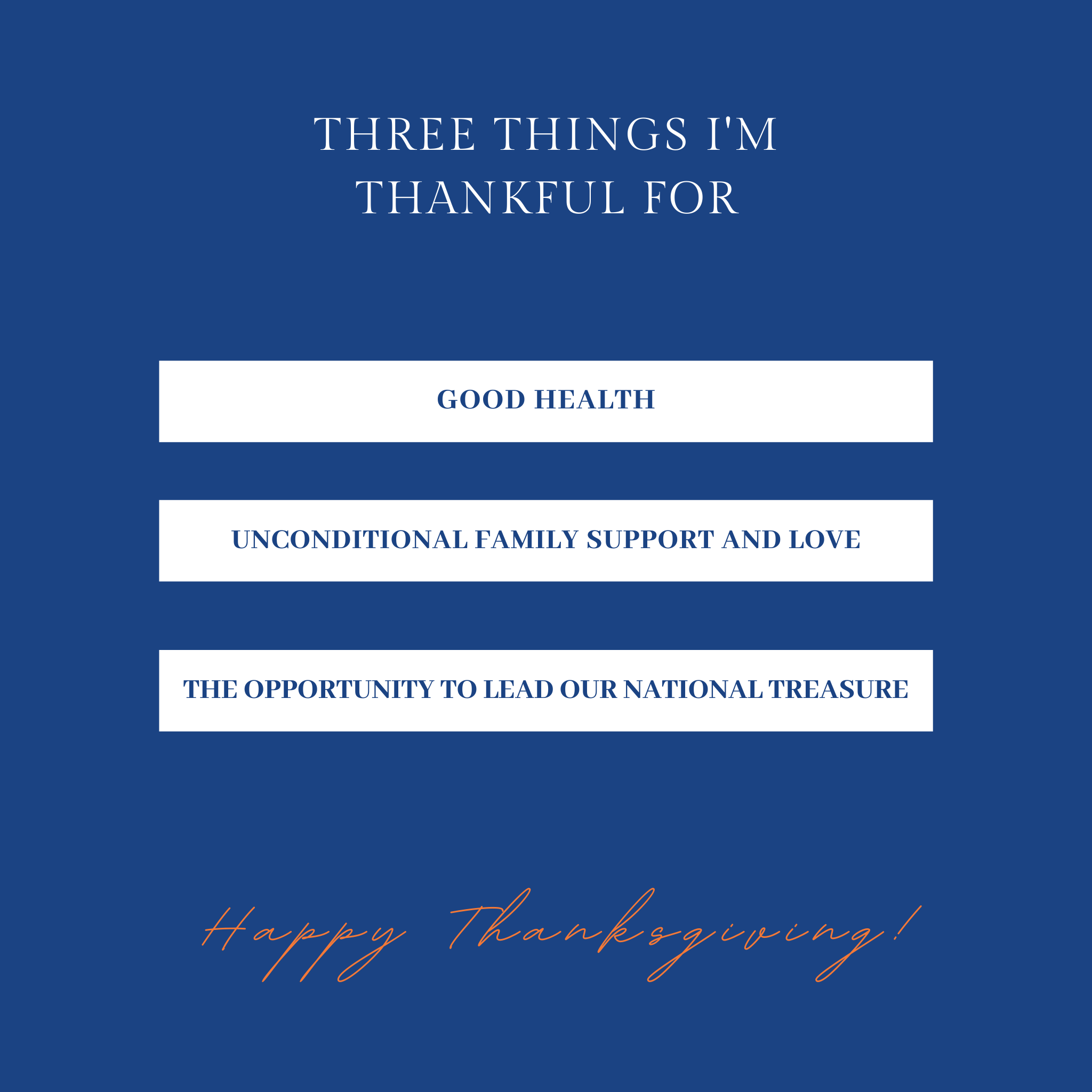3 things president wilson is thankful for