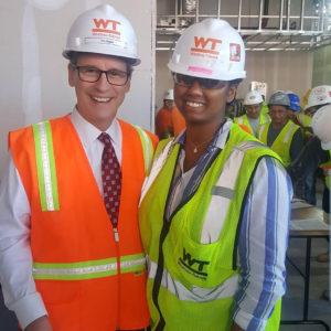 Imani Williams with Tim Regan, president and CEO